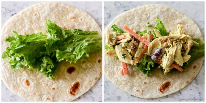 how to fill tortillas with chicken salad