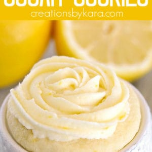 frosted lemon sugar cookies pinterest pin