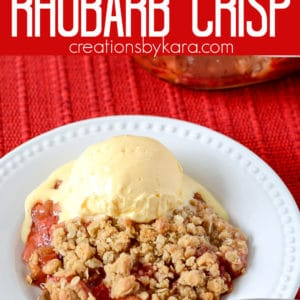 strawberry rhubarb crisp Pinterest Pin