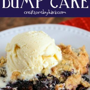 best blueberry dump cake recipe collage