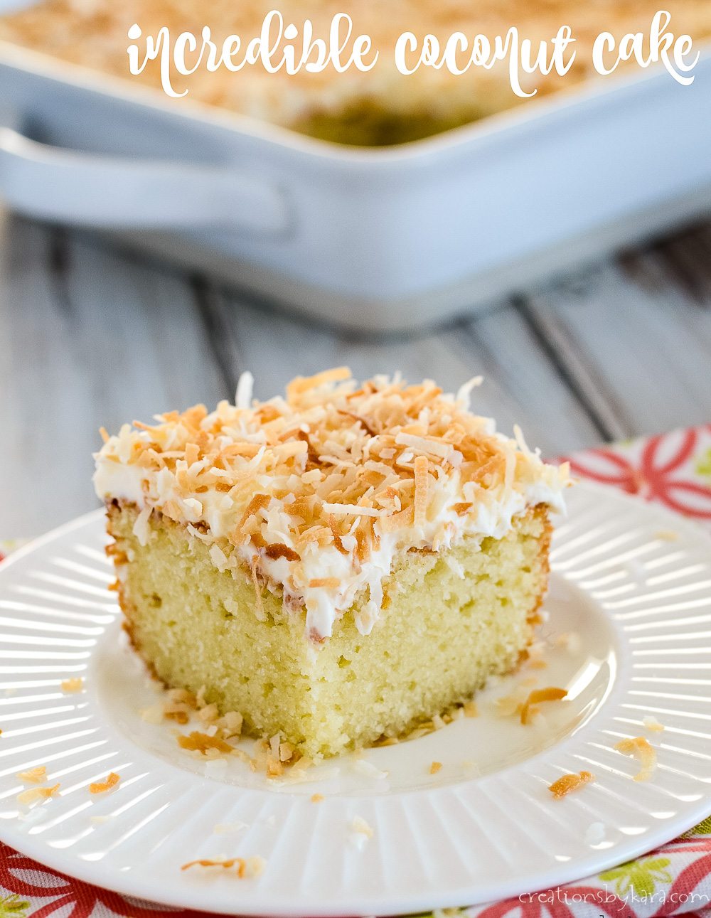 INCREDIBLE EASY COCONUT CAKE RECIPE FROM SCRATCH CREATIONS BY KARA