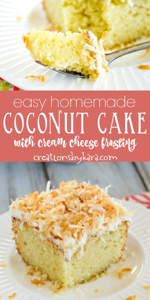 Easy homemade coconut cake recipe collage