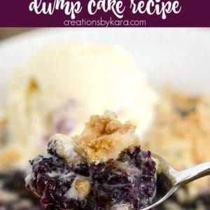 blueberry dump cake recipe Pinterest Pin