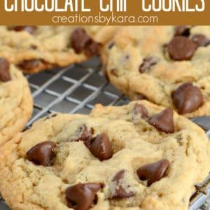 banana chocolate chip cookies pinterest pin