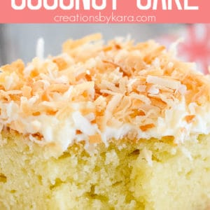 homemade coconut cake with cream cheese frosting