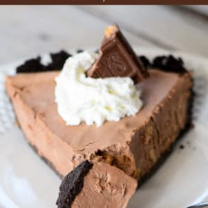 easy frozen chocolate pie recipe pinterest pin