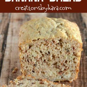 sour cream banana bread loaf recipe
