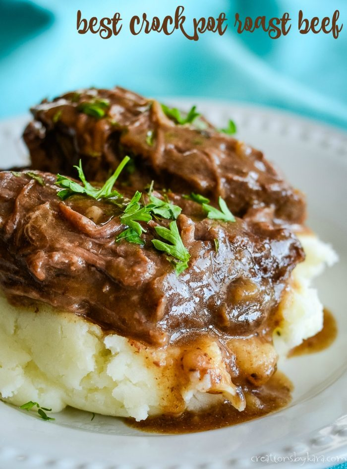 Best Ever Crock Pot Roast Beef Makes It S Own Gravy Creations By Kara