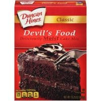 (2 pack) Duncan Hines Classic Devil's Food Cake Mix, 15.25 oz Box