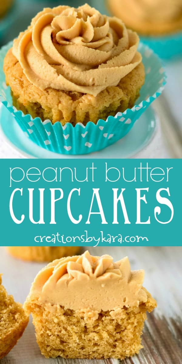 peanut butter cupcakes recipe collage