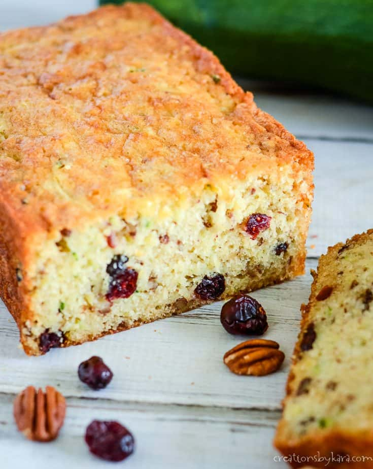 Cranberry Pineapple Zucchini Bread – this fantastic zucchini bread is loaded with chopped nuts, Craisins, and pineapple. It is always moist and delicious!