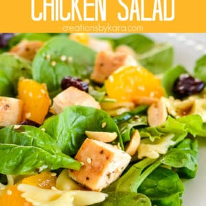 asian chicken pasta salad pinterest pin