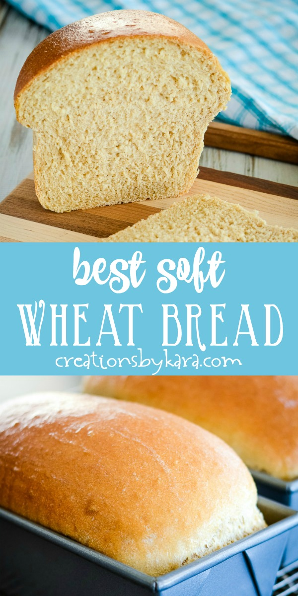 whole wheat bread recipe collage