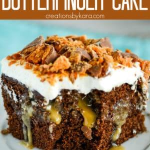chocolate butterfinger cake Pinterest Pin