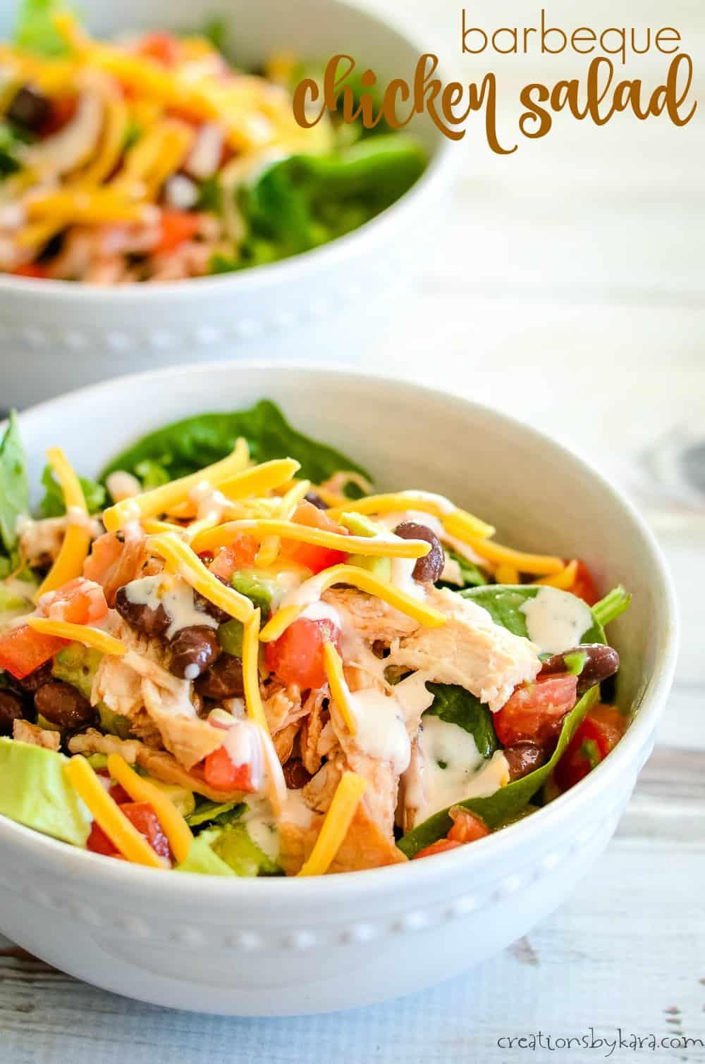 bbq chicken salad title photo