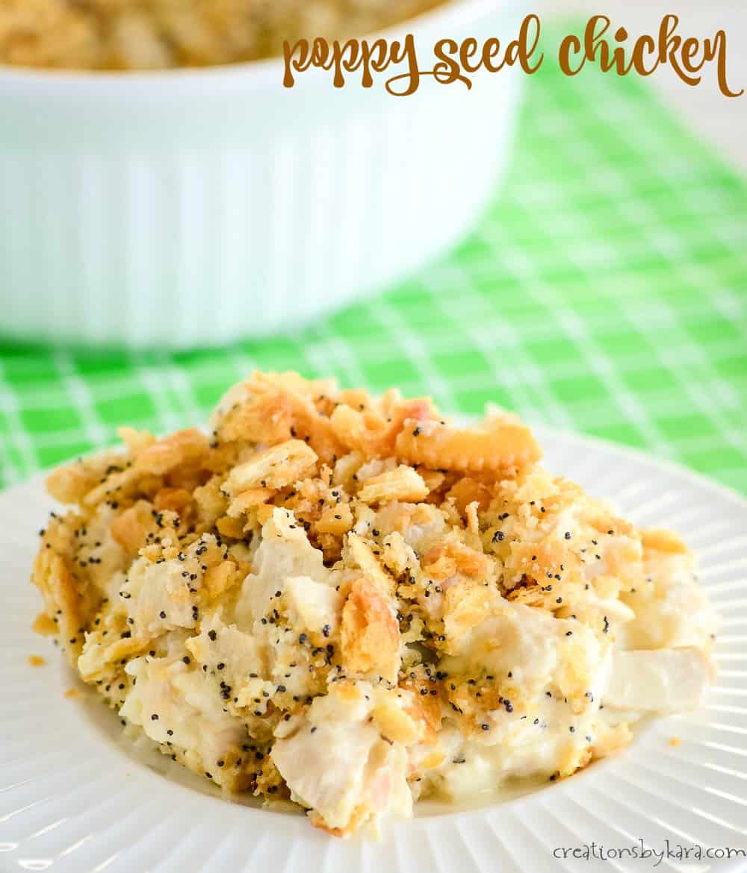 poppy seed chicken casserole title photo