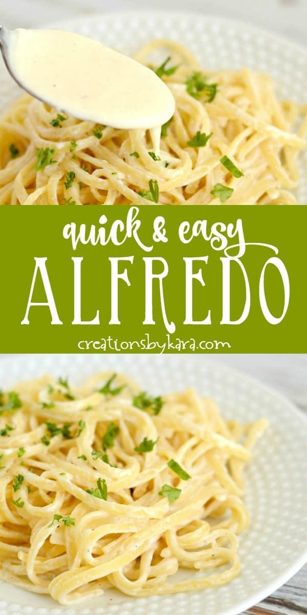 quick and easy alfredo recipe collage