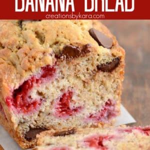 raspberry banana bread pinterest pin