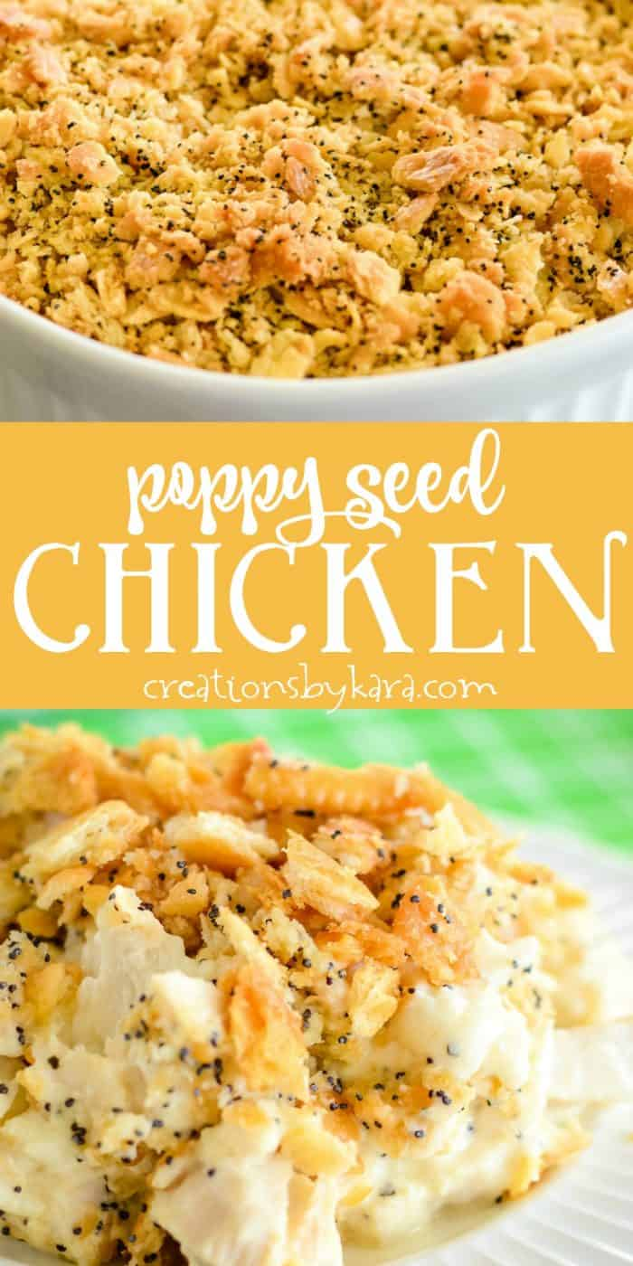 poppy seed chicken recipe collage