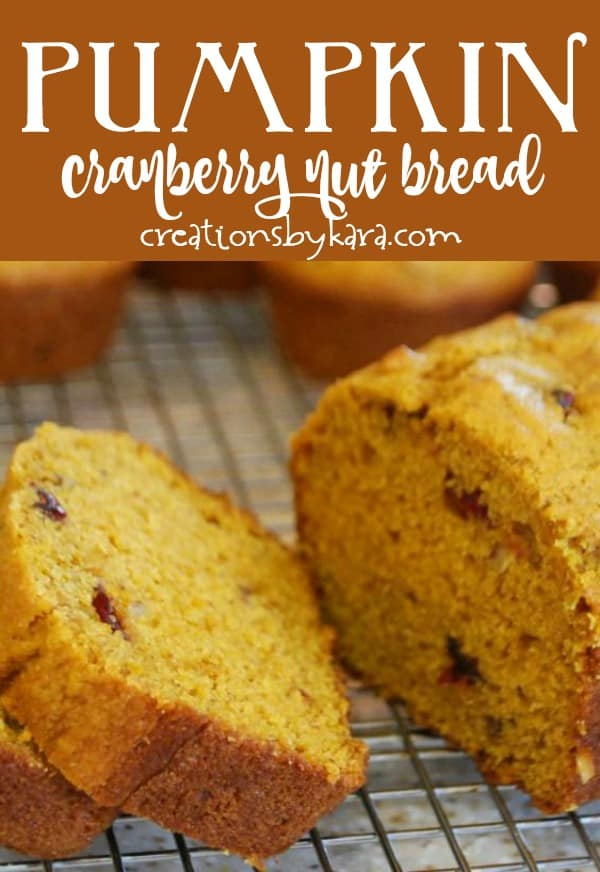pumpkin cranberry bread title photo