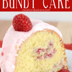 raspberry bundt cake pinterest pin