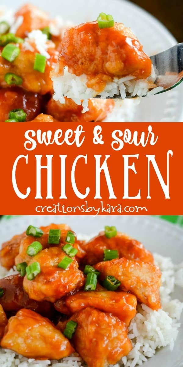 baked sweet and sour chicken recipe collage