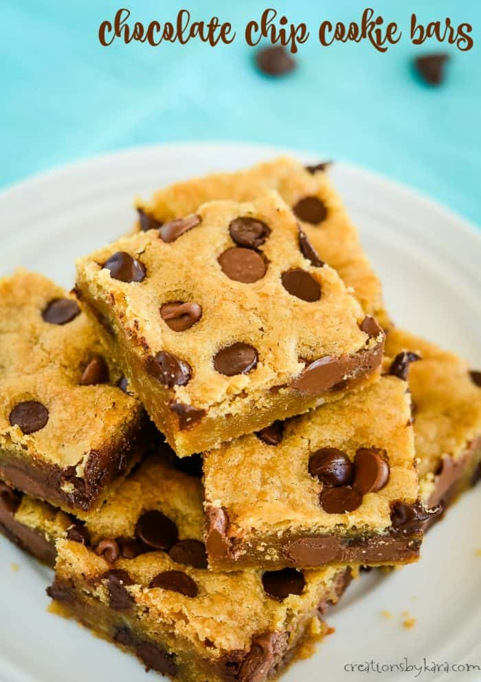 chocolate chip cookie bars title photo