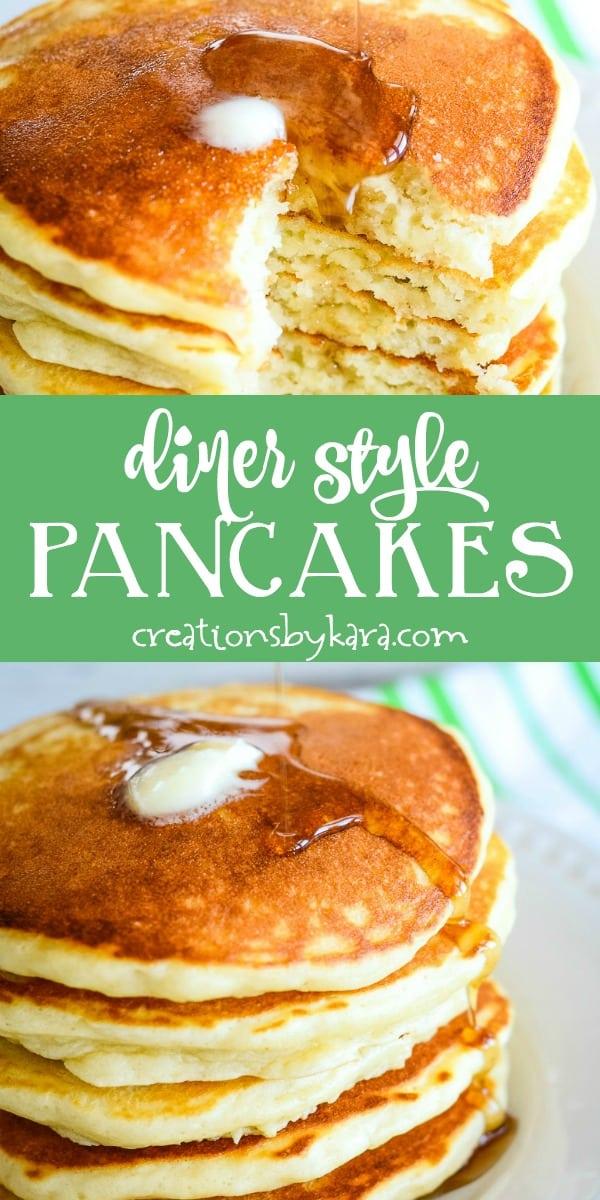 diner style pancake recipe collage