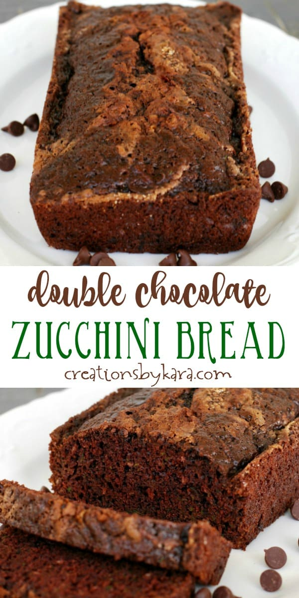 double chocolate zucchini bread recipe collage