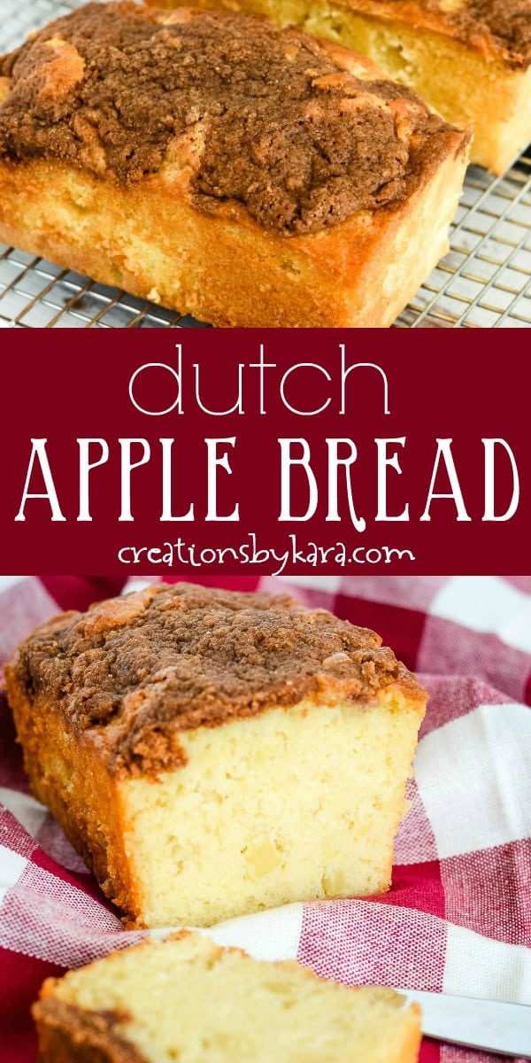 dutch apple bread recipe collage