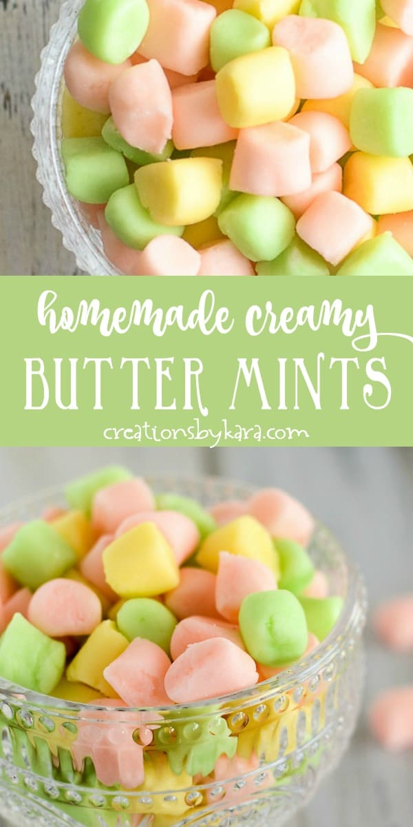 homemade creamy butter mints recipe collage