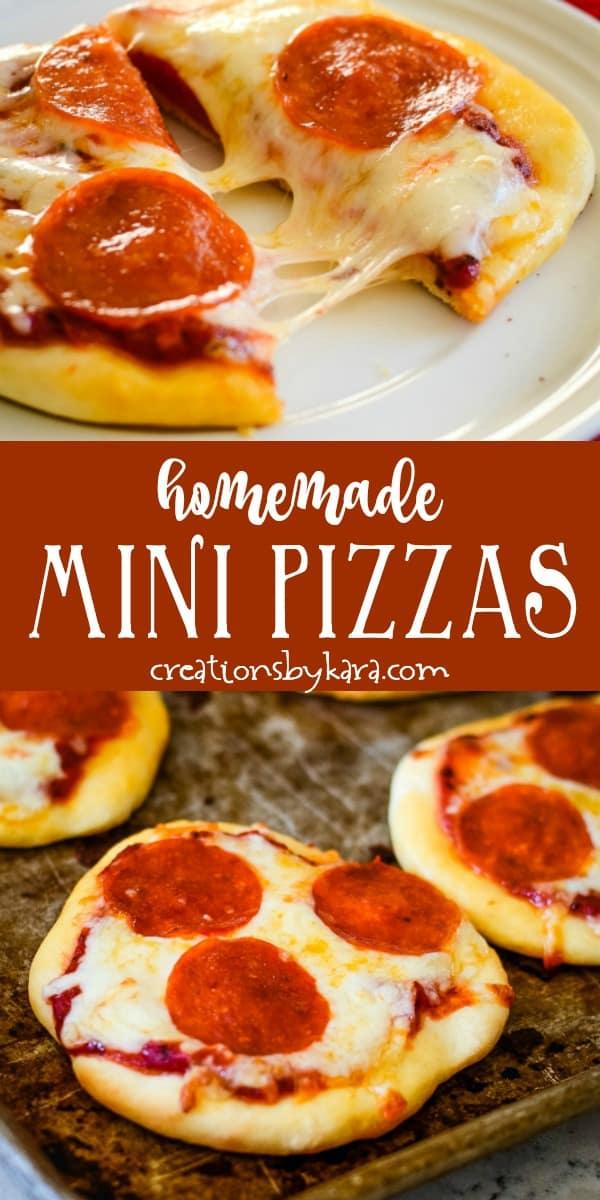 homemade mini pizza recipe collage