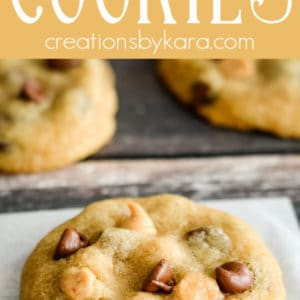 reese's peanut butter chip cookies - pinterest collage