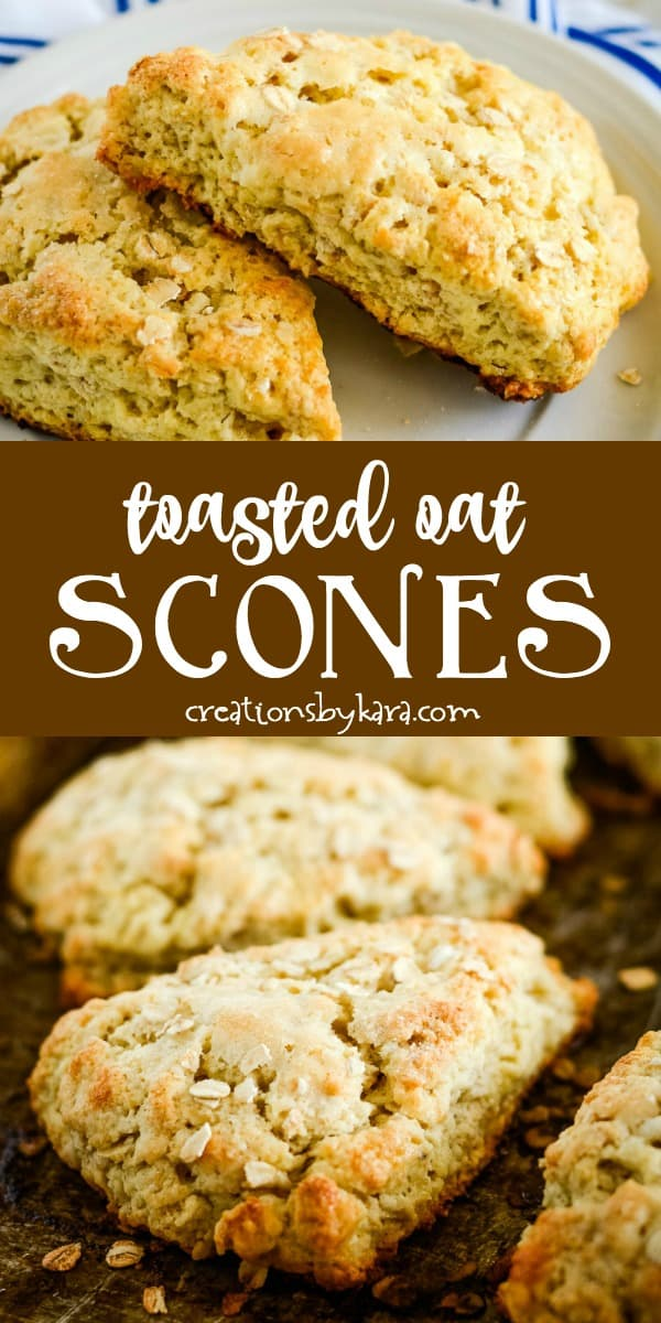 toasted oatmeal scones recipe collage