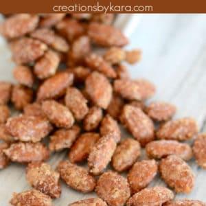 roasted cinnamon almonds pinterest pin