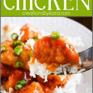 baked sweet and sour chicken pinterest collage