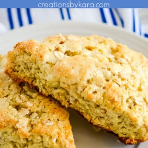 toasted oatmeal scones pinterest pin
