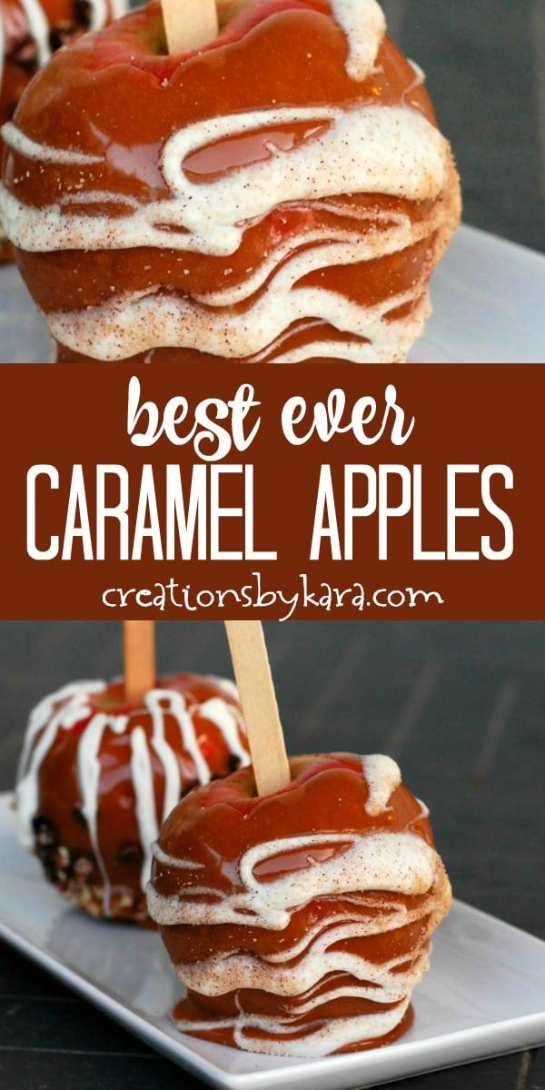 best ever caramel apples recipe collage