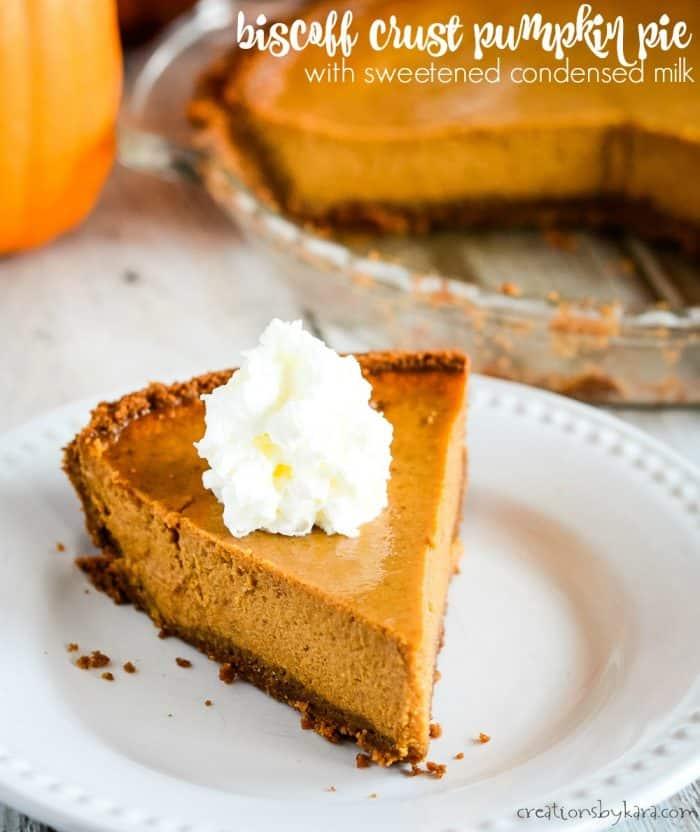 biscoff crust pumpkin pie title photo