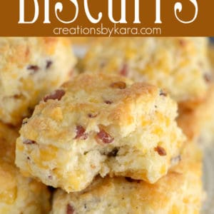 bacon cheddar biscuits pinterest pin