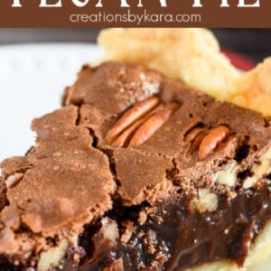 chocolate pecan pie pinterest pin