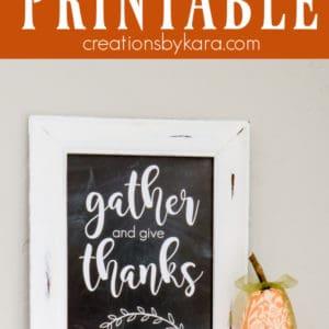 gather and give thanks printable