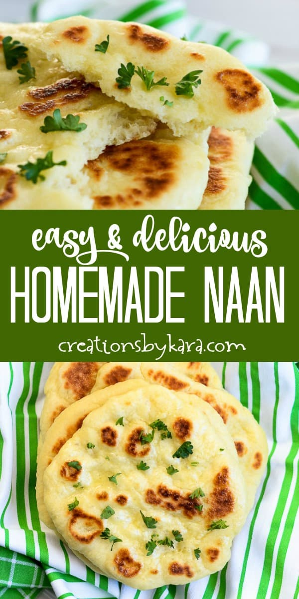 easy homemade naan recipe collage