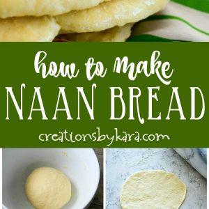 naan bread recipe collage