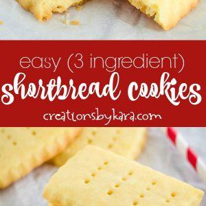 3 ingredient shortbread cookies