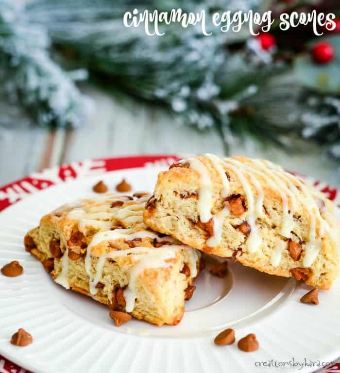 cinnamon eggnog scones title photo