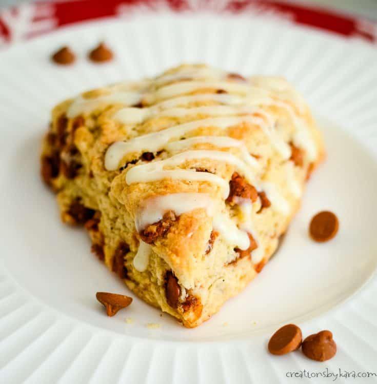 Cinnamon Eggnog Scones