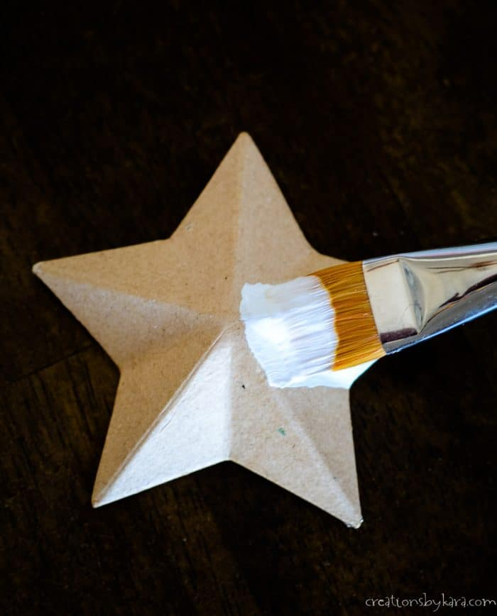 how to paint paper mache stars