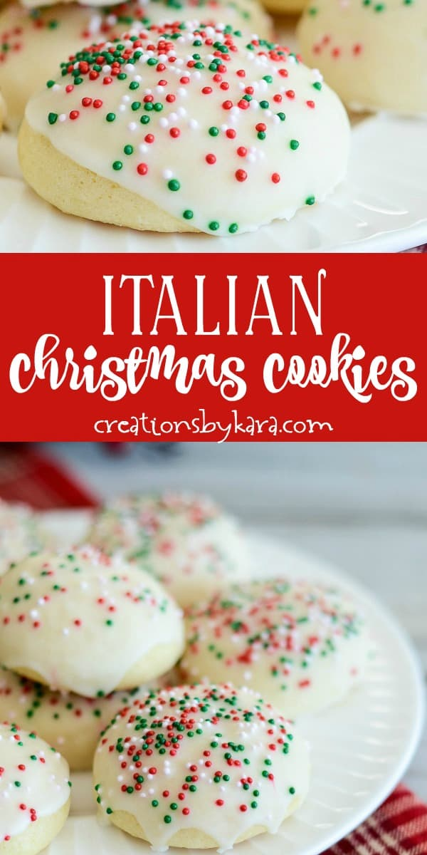 Italian Christmas cookies recipe collage
