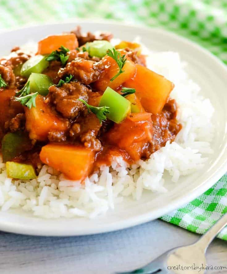 Sweet and Sour Ground Beef